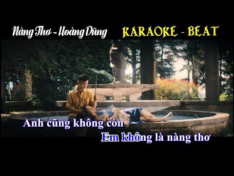 [KARAOKE] Nàng Thơ - Hoàng Dũng   KARAOKE - BEAT GỐC