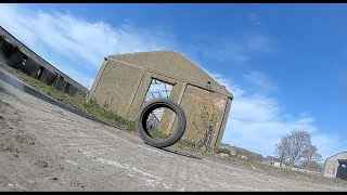 Fighting the wind. Unedited Fpv flight at the abandoned military base.