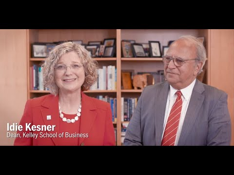 Congratulatory message from Kelley School of Business