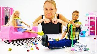 Домашние дела Барби и Кевина - Виде для девочек