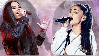 Demi Lovato vs Ariana Grande   Vocal Battle D3 - Bb5 - E6