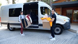 Twins Move Into A Custom Built Van Together