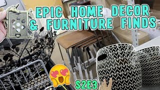 EPIC HOME DECOR & FURNITURE FINDS | GOODWILL HUNTING S2.E3