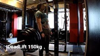 [筋トレ動画]YOUTUBEにデッドリフト150kgをUPしました。