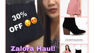 UNBOXING And First Impression Of RUBI Ankle Boots And Zalora Basic Dress From ZALORA (Haul)