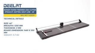 Rotary Paper Trimmer and Cutter - Straight, Dotted, Wavy Line - 48