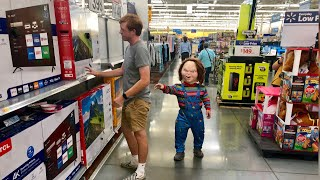 Scaring People In a Chucky Costume (Someone Cried)