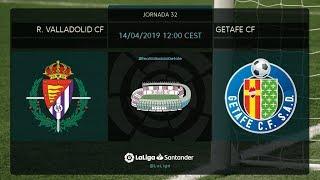 Calentamiento R. Valladolid CF vs Getafe FC