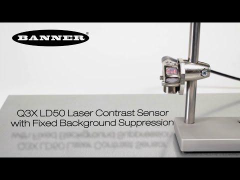 El Sensor Láser de Contraste Q3X LD50 con Supresión de Fondo Fijo
