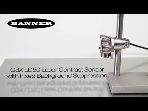 Laser-Kontrastsensor Q3X LD50 mit fester Hintergrundausblendung