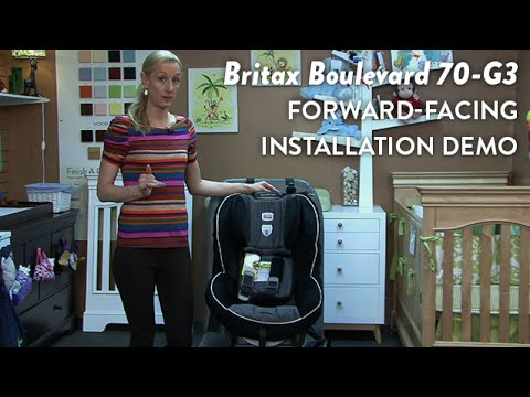 Britax Boulevard 70-G3 Convertible Car Seat Forward Facing Installation Demo | CloudMomo