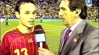 España 0 - Rusia 0.  Debut de Andrés Iniesta