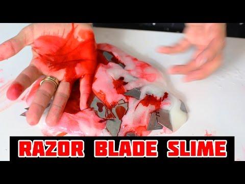 EXTREME DANGEROUS RAZOR BLADE SLIME!!! Slimeatory with