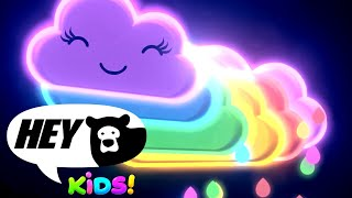 Hey Bear Kids - Rainbow Dance Party! - Baby Sensory - Fun Video with colourful animation and music!