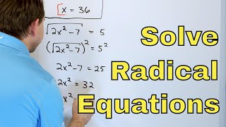 05 - Solving Radical Equations & Identifying Extraneous Solutions - Part 1