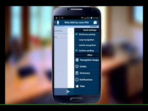 Video of Write SMS by voice PRO