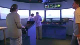 Bangor Savings Bank trainees use MMA ship bridge simulator - Castine Patriot