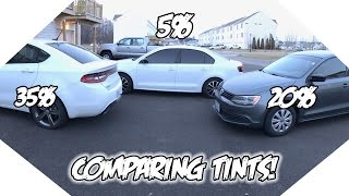 35% vs 20% vs 5% Window Tint! What tint is best for you?