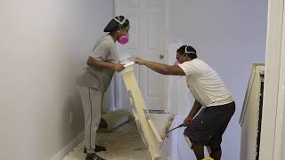 DIY:Stairs remodel and Drywall Demo