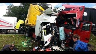 Большегрузы разносят все на своем пути Авто ДТП фуры 2018