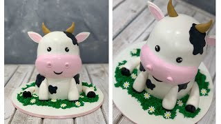 Adorable Cow Cake   Cute Cow Cake   Farm Animal Cake