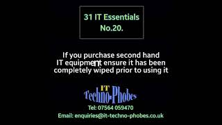 IT Techno-Phobes Limited Tip 20 – IT Support Services In Bromsgrove