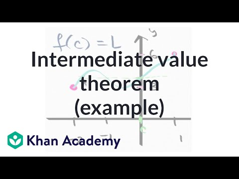 Worked Example Using The Intermediate Value Theorem Video Khan