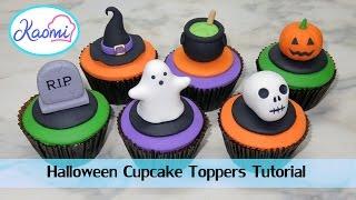 Cómo Hacer Figuras De HALLOWEEN Para Cupcakes || Kaomi Tutoriales