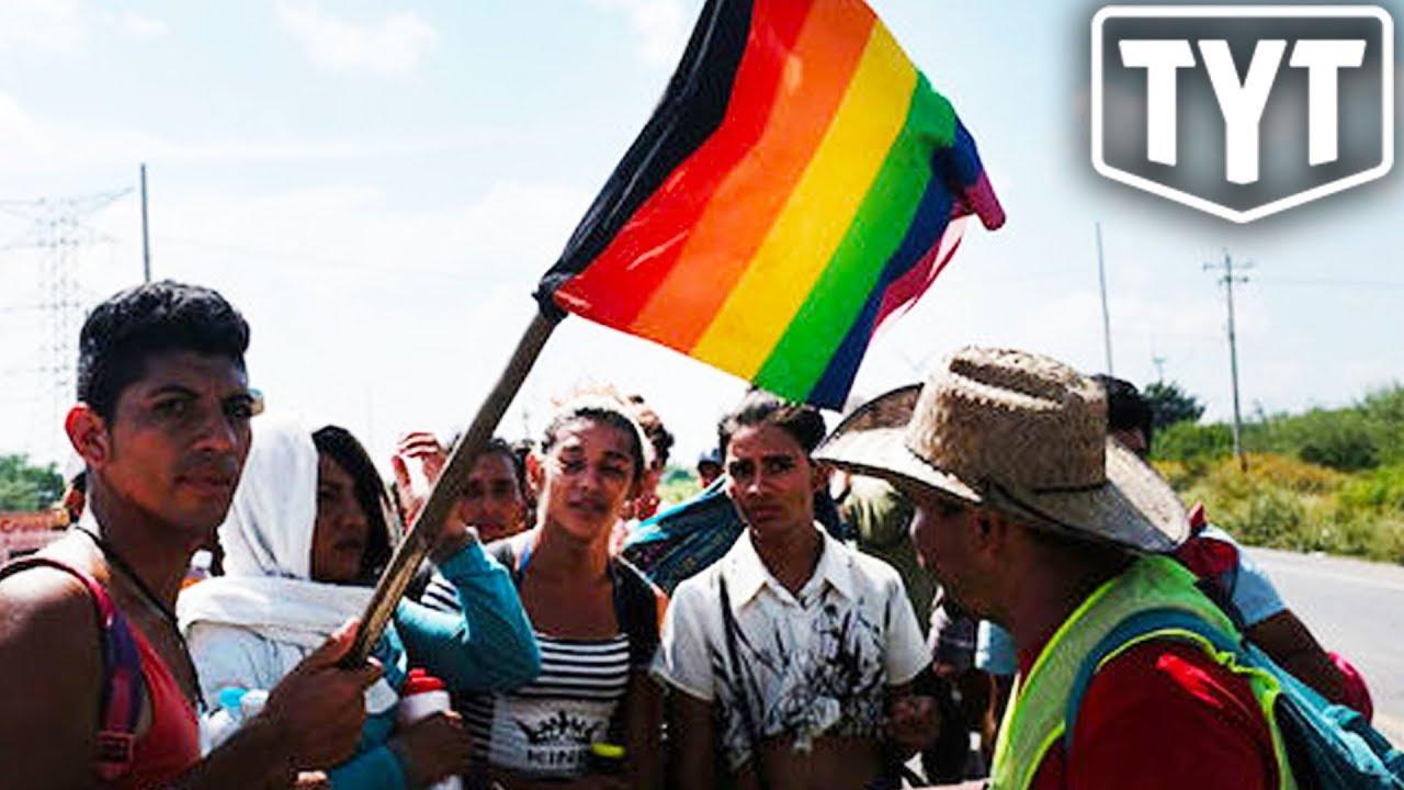 Small Group Of LGBTQ Migrants Reach Border thumbnail