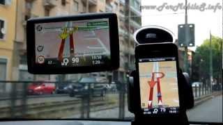 TomTom Start 60 Europe VS Apple iPhone 4S - Confronto navigazione GPS in auto