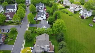 Ariel view in Hillsborough, New Jersey. Vlog#00003