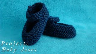 Project  |  Baby Janes  |  Knitted Shoes