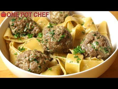 Easy One Pot Swedish Meatballs with Pasta | One Pot Chef