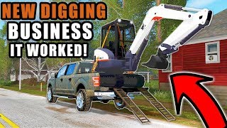 THE EXCAVATOR FIT IN THE TRUCK! WE CAN'T AFFORD A NEW TRAILER...| FARMING SIMULATOR 2017