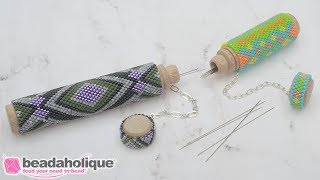 How To Wrap A Needle Case In Peyote Stitch Bead Weaving
