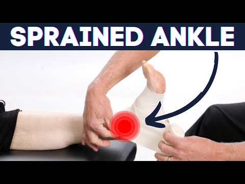 Video Sprained Ankle?: How to wrap Ankle Sprains-correct