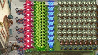 Plants vs Zombies 2 - Sling Pea, Red Stinger and Moonflower