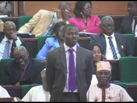 Hon Femi Hakeem Gbajabiamila making special recommendation and recognition to Mr Ayodele Dada for ac
