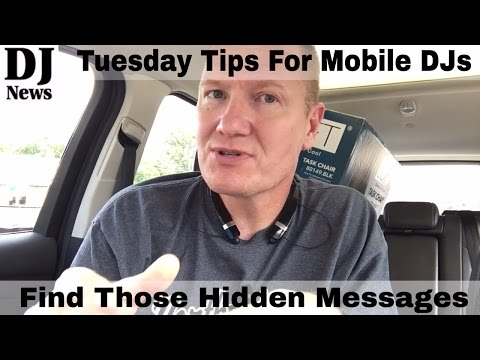Tuesday tip | Look For Hidden Messages | Disc Jockey News