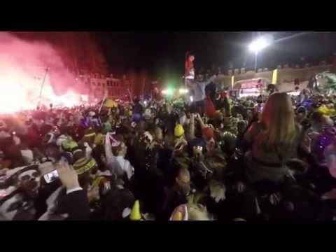 Einde Carnaval  - laten zakken van het Mooswief