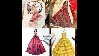 THE BEST FASHION ILLUSTRATION DRESSES/ DESIGN IDEAS/ FASHION DESIGN SKETCHES..