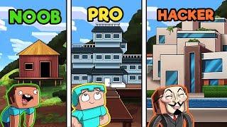 Minecraft Rich Mountain Mansion Noob Vs Pro Vs Hacker
