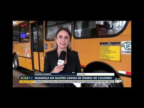 Comec altera linhas do transporte coletivo de Colombo e Curitiba - Bom Dia Paraná - RPC - 16/12/2019
