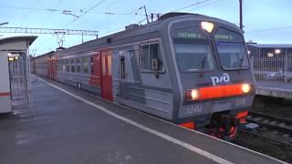 Электропоезд ЭД4М-0118 сообщением Санкт-Петербург - Гатчина-Балтийская