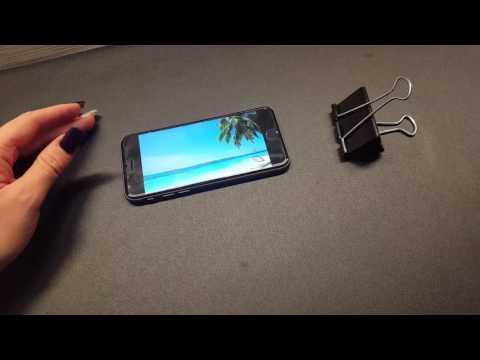 Life Hack DIY Handyhalterung simpel mit Foldbackklammer Binder Clips