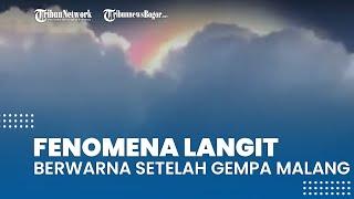 Viral Video Fenomena Langit Berwarna di Jawa Timur setelah Gempa, Pernah Terjadi di Kanada