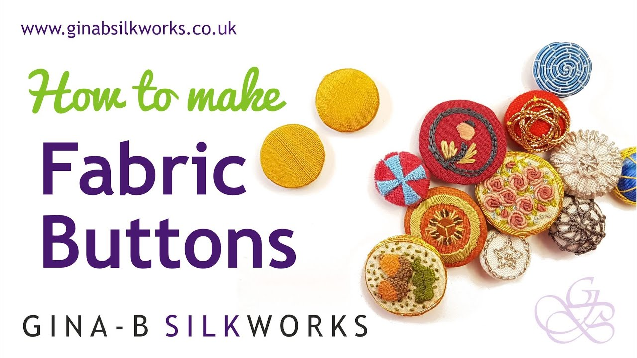 How to Make Fabric Buttons at home