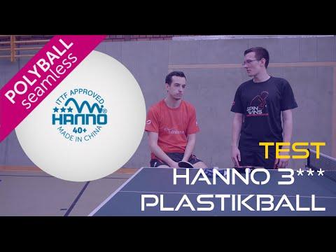 Test Hanno 3*** Polyball Unterschied Plastikball vs  Zelluloidball - Meine Erfahrungen