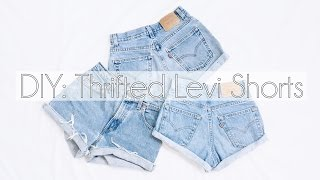 DIY: High Waisted Shorts (Thrifted Levi's)
