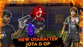 PLAYING WITH NEW  CHARACTER  JOTA HE IS UN BEATABLE || NEW ABILITY + BEST SKILLS || GARENA FREE FIRE